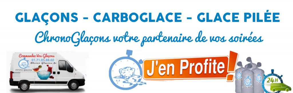 glacon carboglace glace pilée glaçons sur paris et ile de france spécial promo